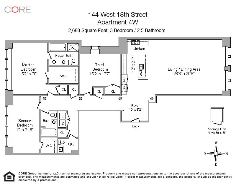 144 West 18th St. 4W, New York, NY 10011