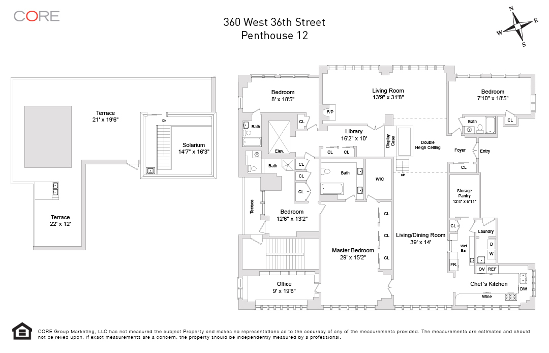 360 West 36th St. PH/12, New York, NY 10018
