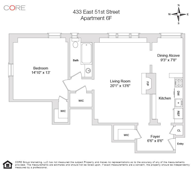 433 East 51st St. 6F, New York, NY 10022