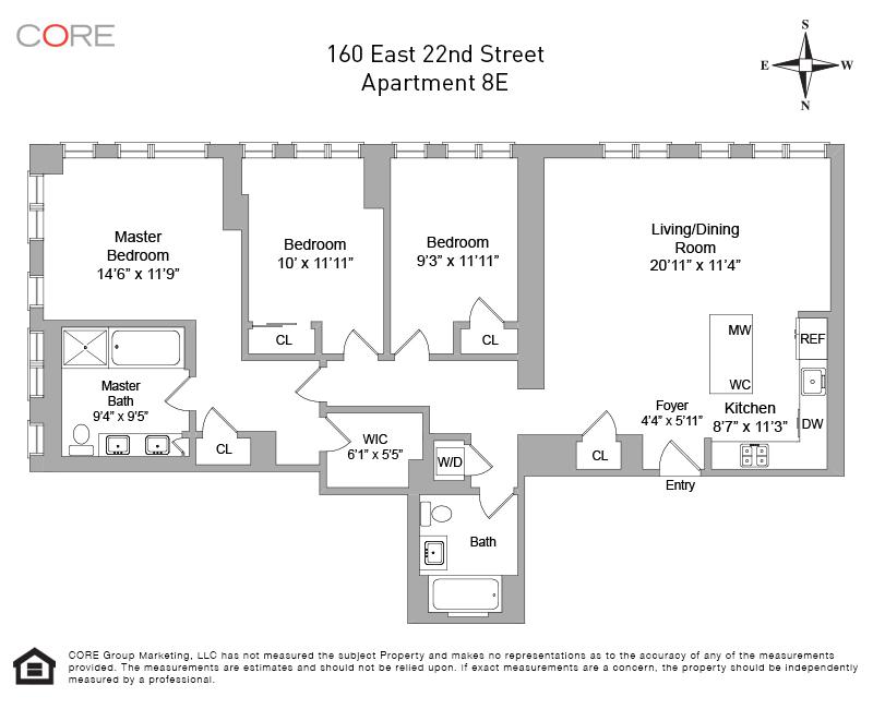 160 East 22nd St. 8E, New York, NY 10010