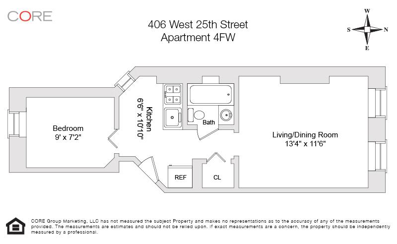 406 West 25th St. 4FW, New York, NY 10001