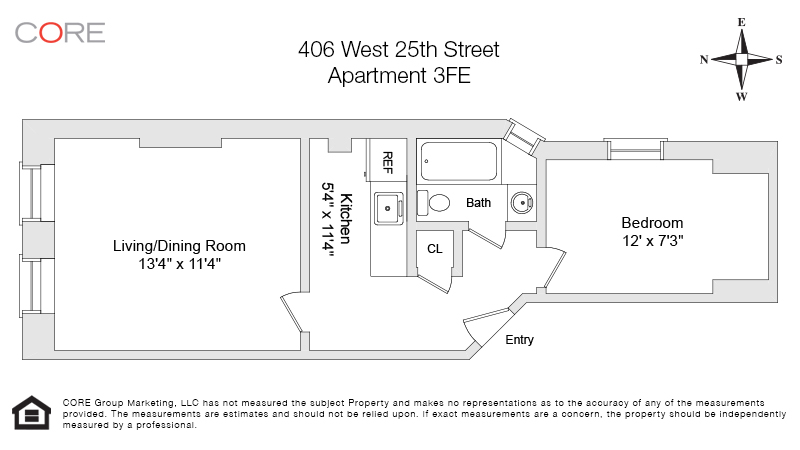406 West 25th St. 3FE, New York, NY 10001