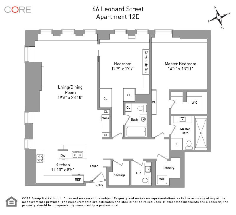 66 Leonard St. 12D, New York, NY 10013