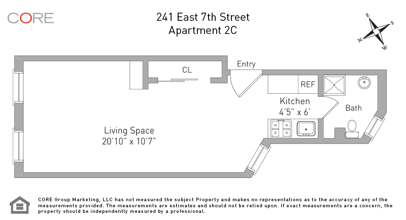 241 East 7th St. 2C, New York, NY 10009