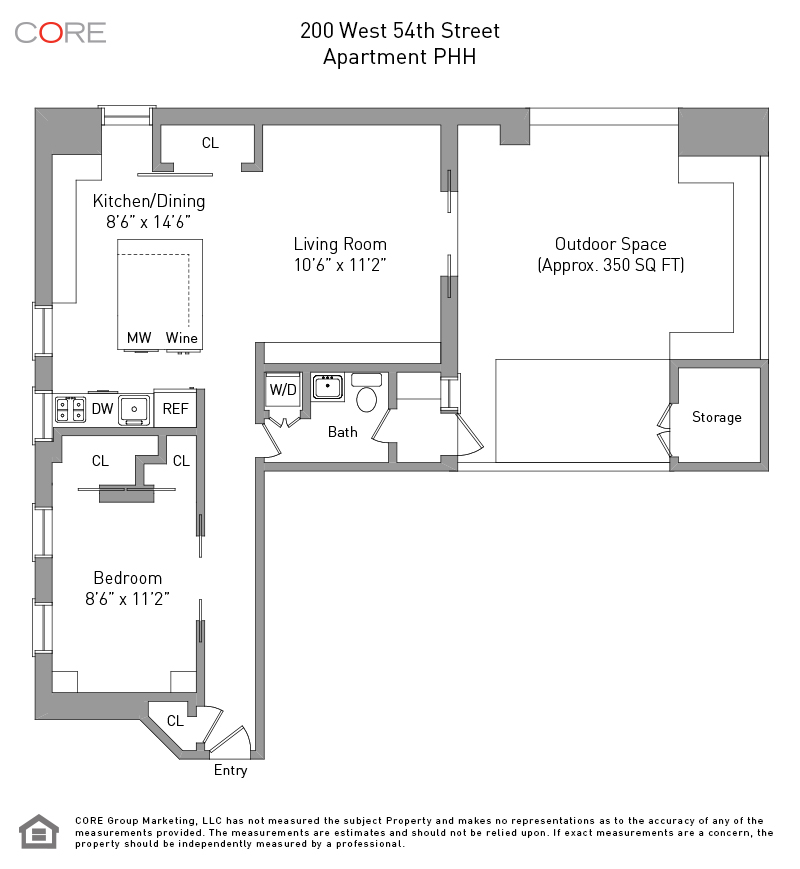 West 54th Apartments: 200 West 54th St. PENTHOUSEH, New York, NY 10019