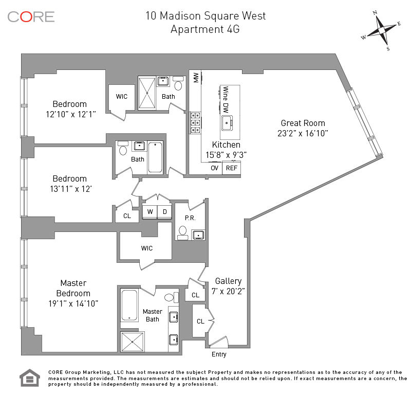 10 Madison Sq. West 4G, New York, NY 10010