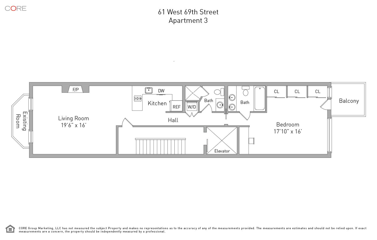 61 West 69th St. 3F, New York, NY 10023