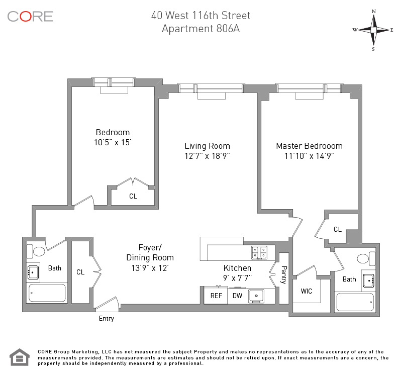 40 West 116th St. A806, New York, NY 10026