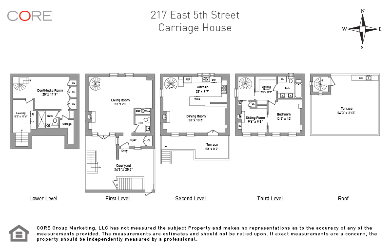 217 East 5th St. Carriage House, New York, NY 10003