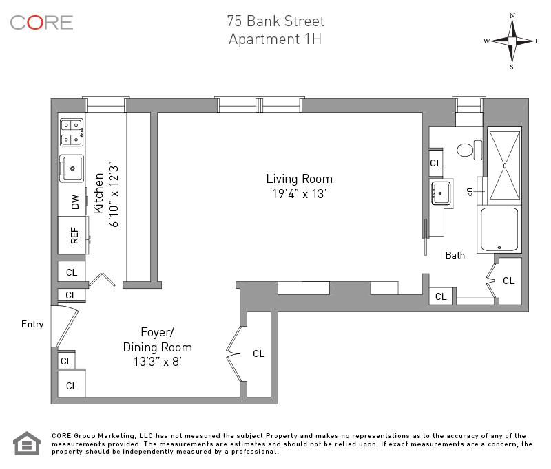75 Bank St. 1H, New York, NY 10014