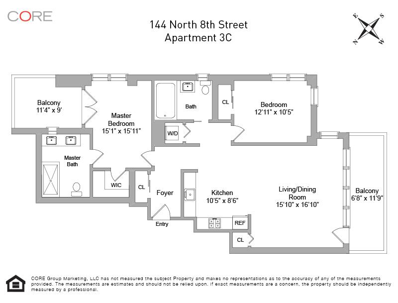 144 North 8th St. 3C, Brooklyn, NY 11211