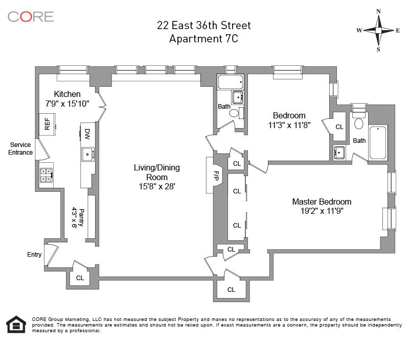 22 East 36th St. 7C, New York, NY 10016