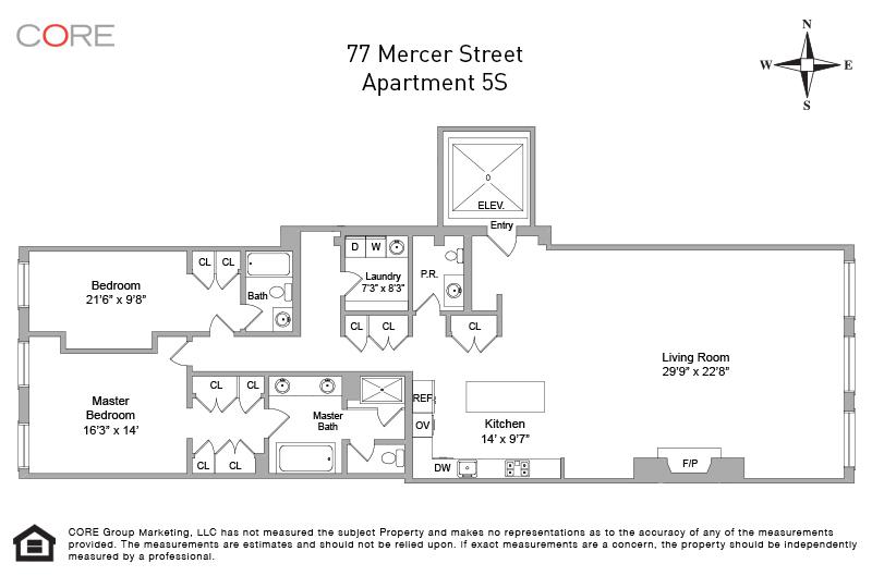 77 Mercer St. 5S, New York, NY 10012