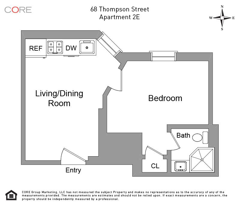 68 Thompson St. 2E, New York, NY 10012