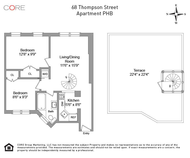68 Thompson St. PHB, New York, NY 10012