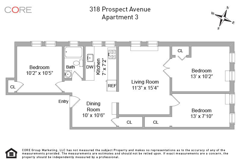318 Prospect Ave. 3F, Brooklyn, NY 11215