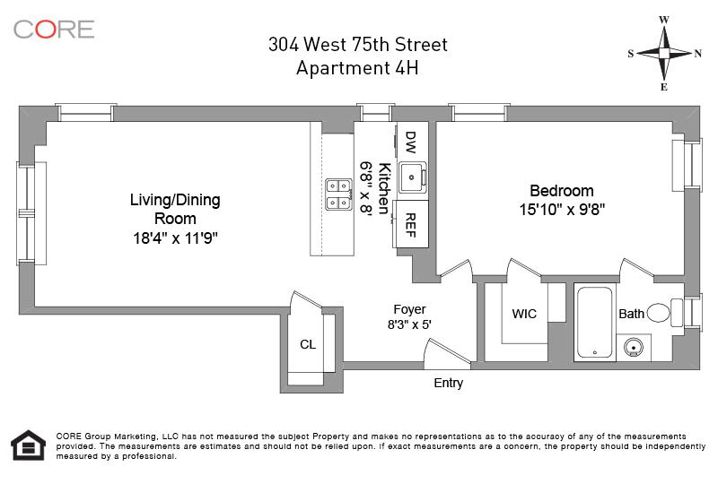 304 West 75th St. 4H, New York, NY 10023