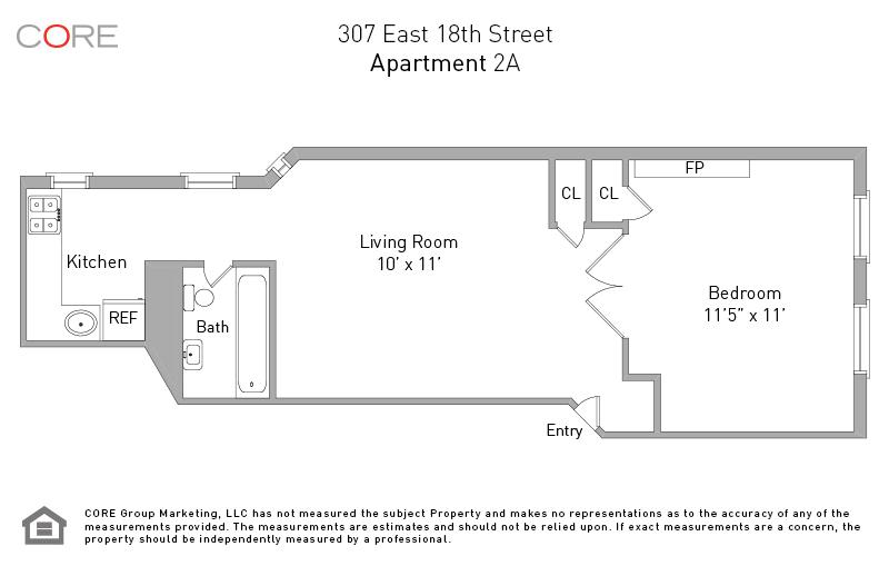 307 East 18th St. 2A, New York, NY 10003