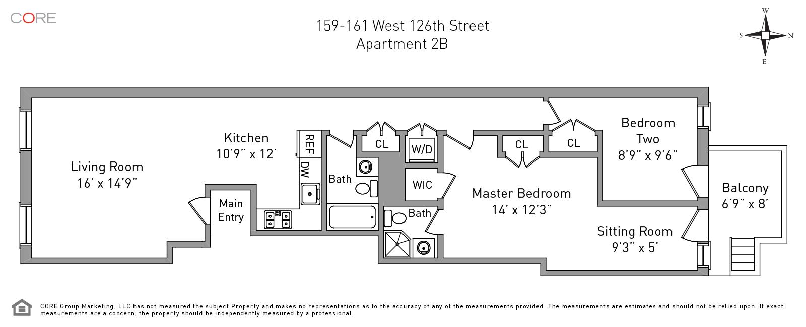 159 West 126th St 2B, New York, NY 10027