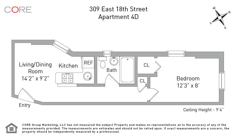 309 East 18th St. 4D, New York, NY 10003