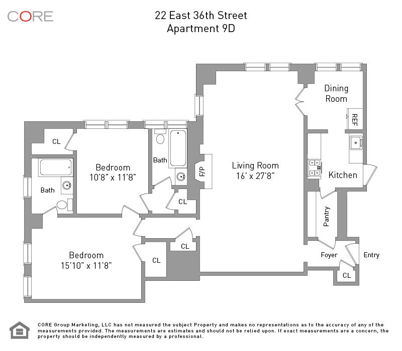 22 East 36th St. 9D, New York, NY 10016