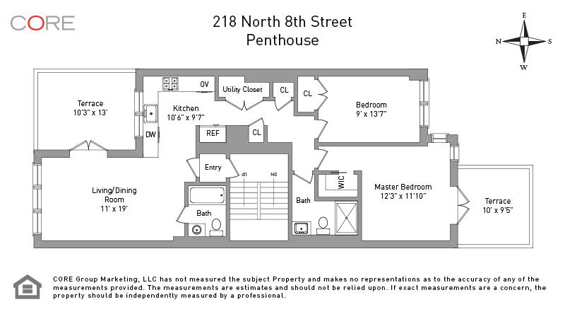 218 North 8th St. PH, Brooklyn, NY 11211