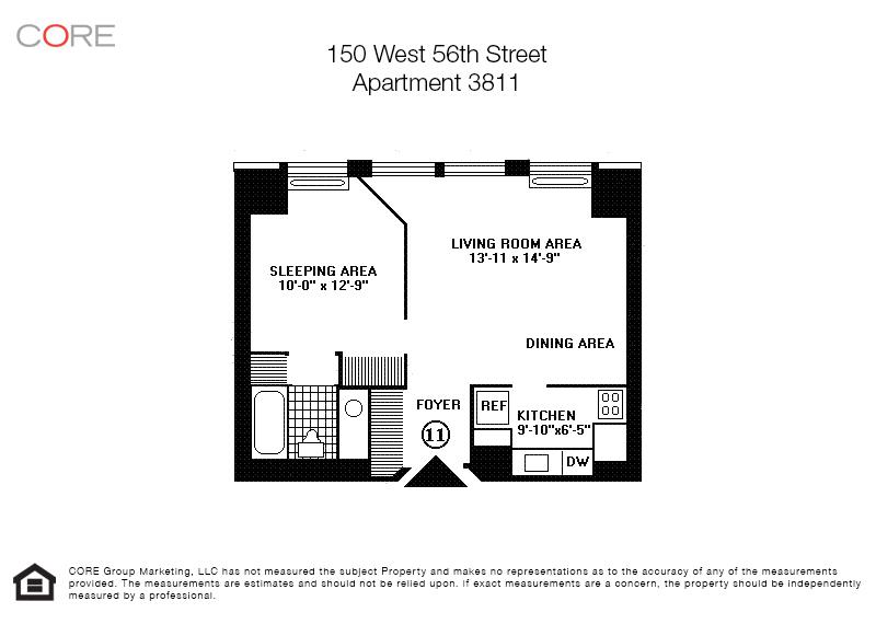 150 West 56th St. 3811, New York, NY 10019
