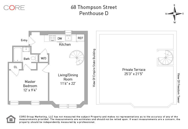 68 Thompson St. PHD, New York, NY 10012