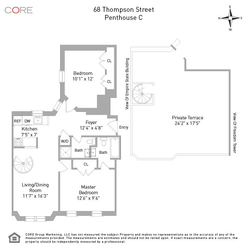 68 Thompson St. PHC, New York, NY 10012