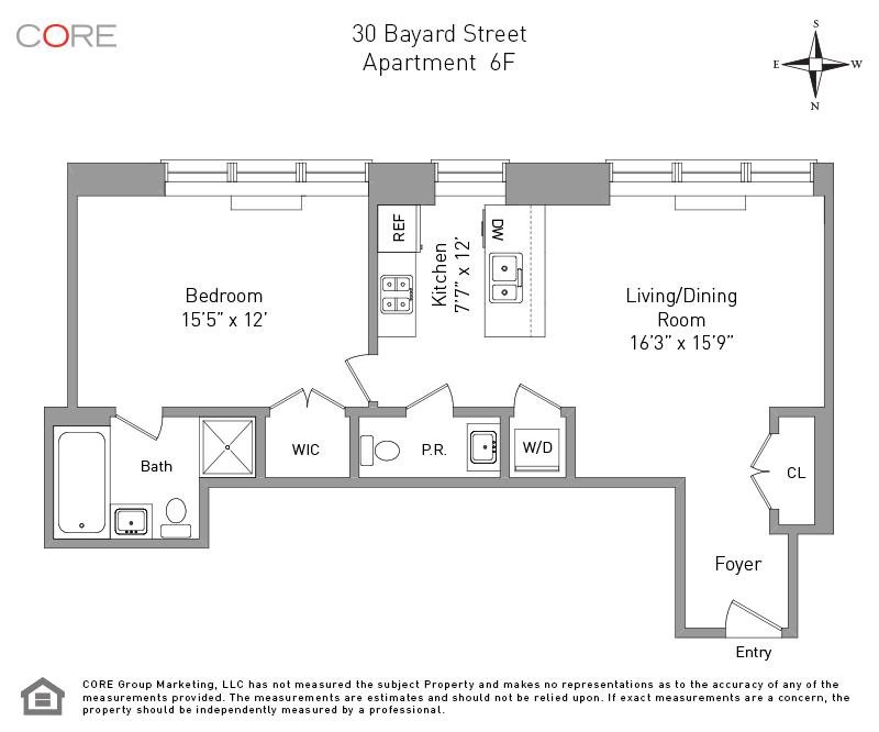 30 Bayard St. 6F, Brooklyn, NY 11211