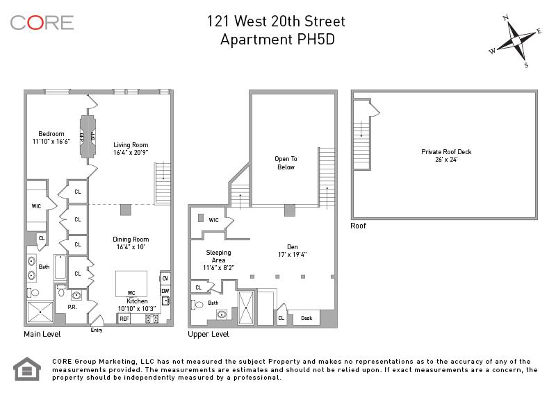 121 West 20th St. PH5D, New York, NY 10011