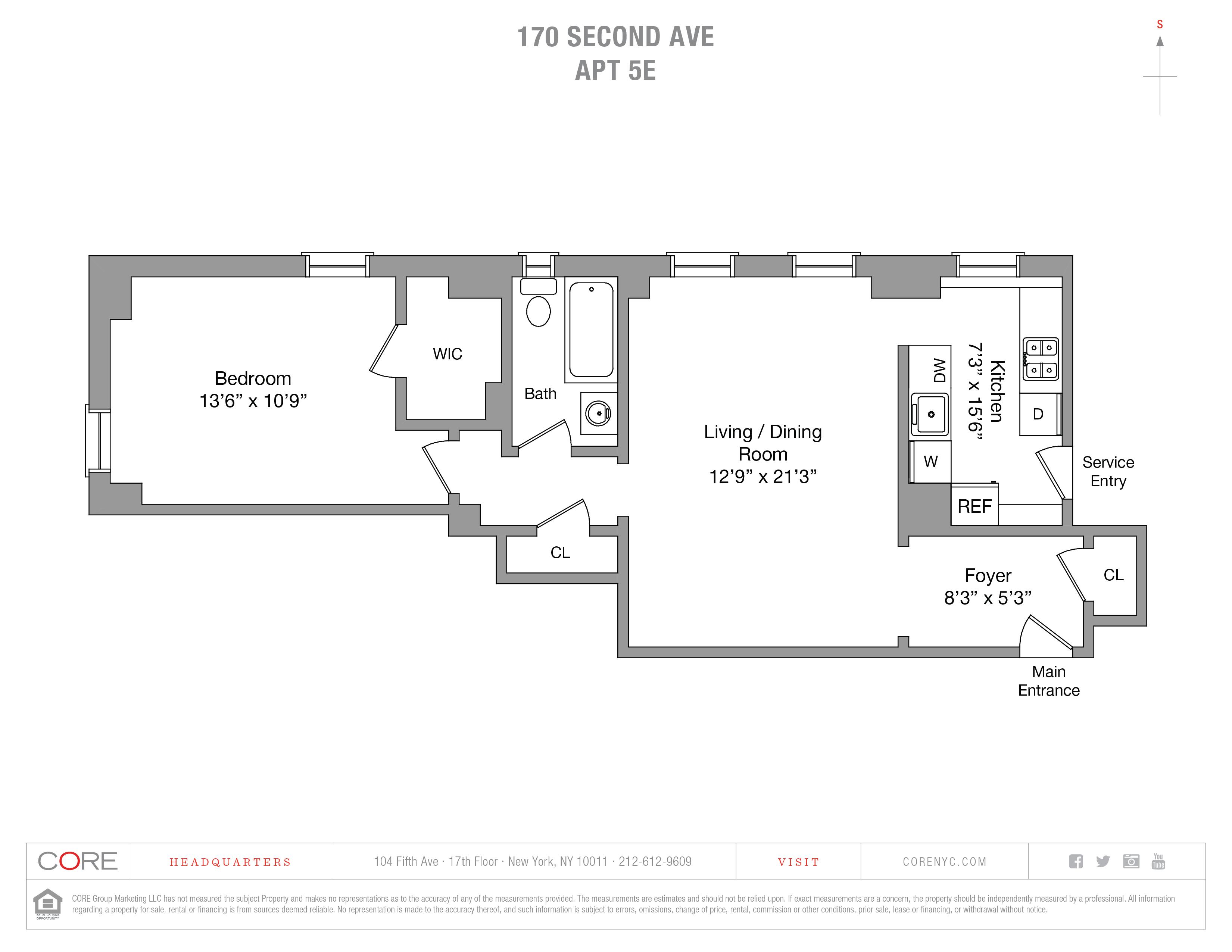 170 Second Ave. 5E, New York, NY 10003