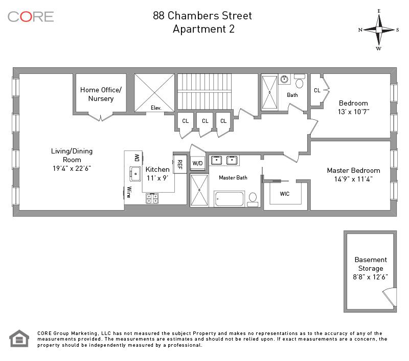 88 Chambers St. 2, New York, NY 10007