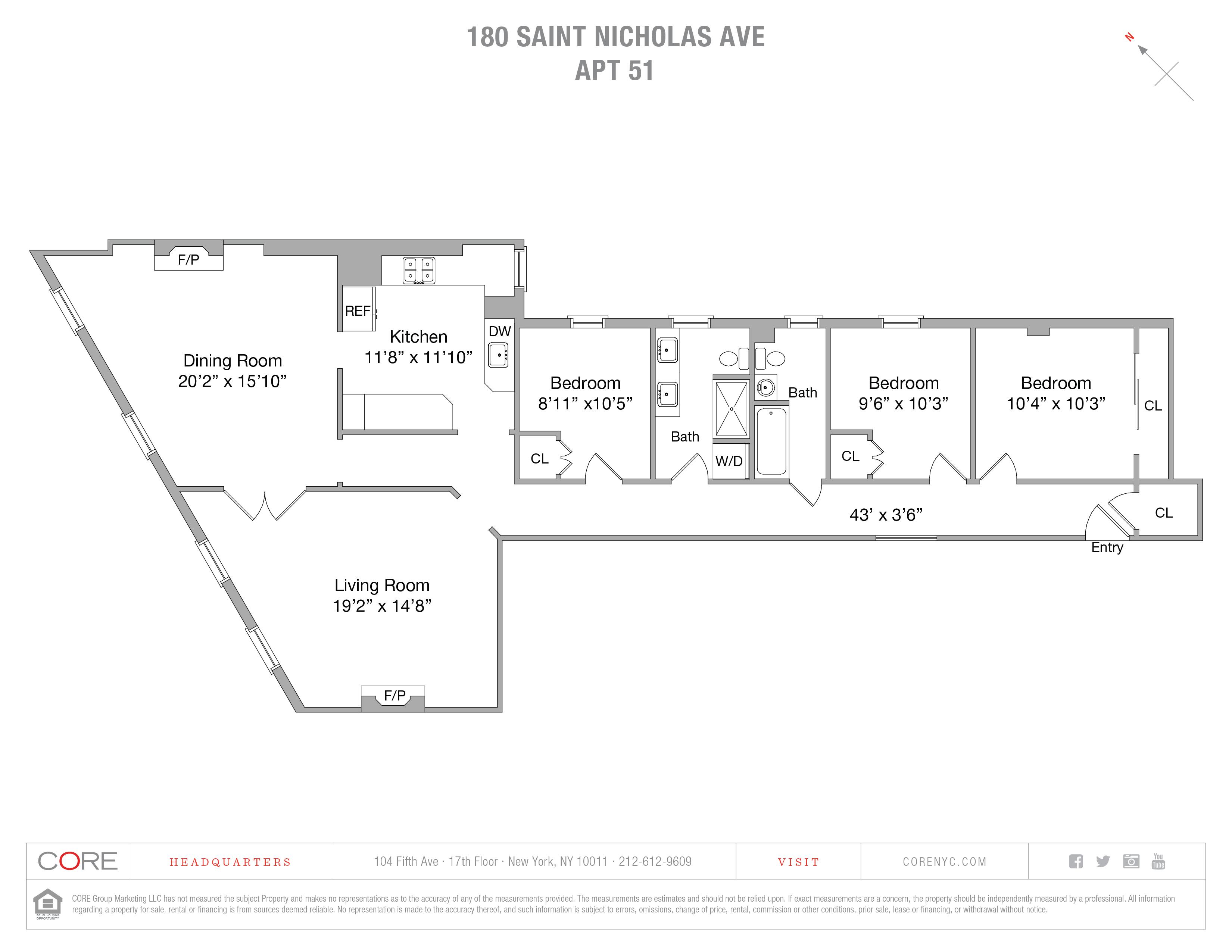 180 Saint Nicholas Ave. 51, New York, NY 10026