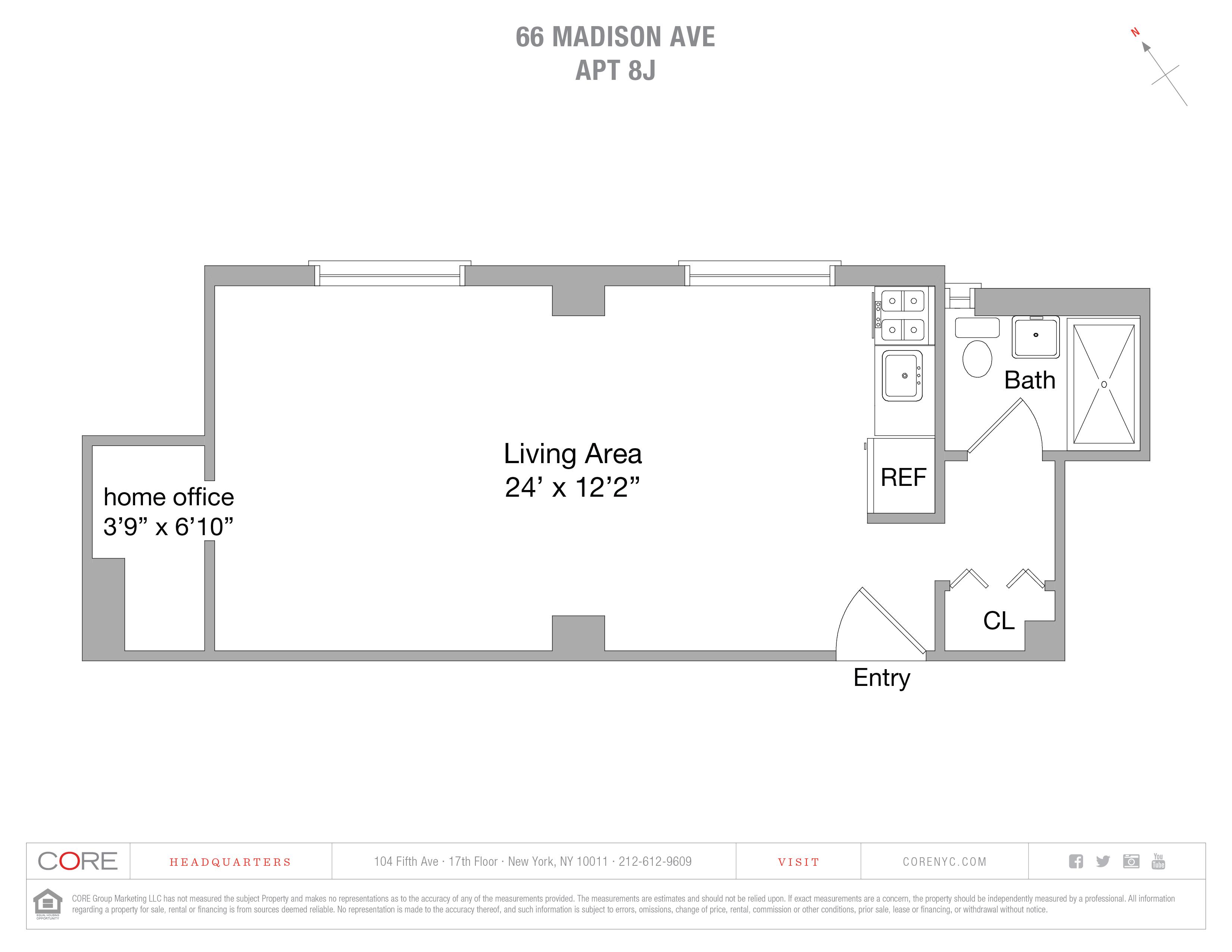 66 Madison Ave. 8J, New York, NY 10016