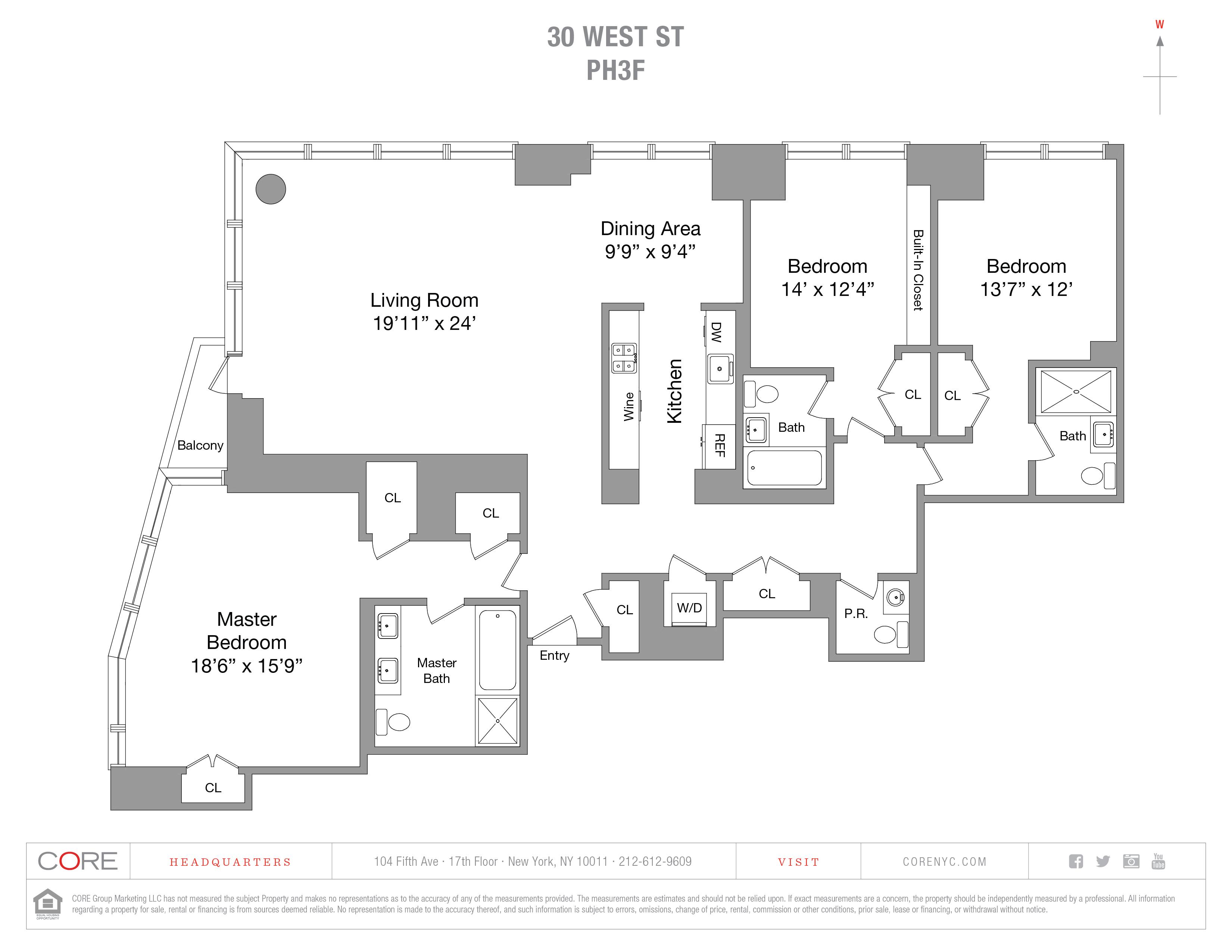 30 West St. PH3F, New York, NY 10280