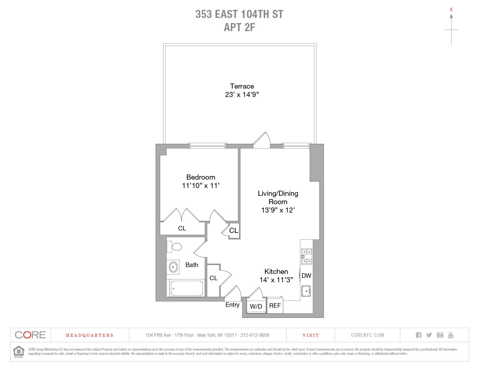 353 East 104th St. 2F, New York, NY 10029