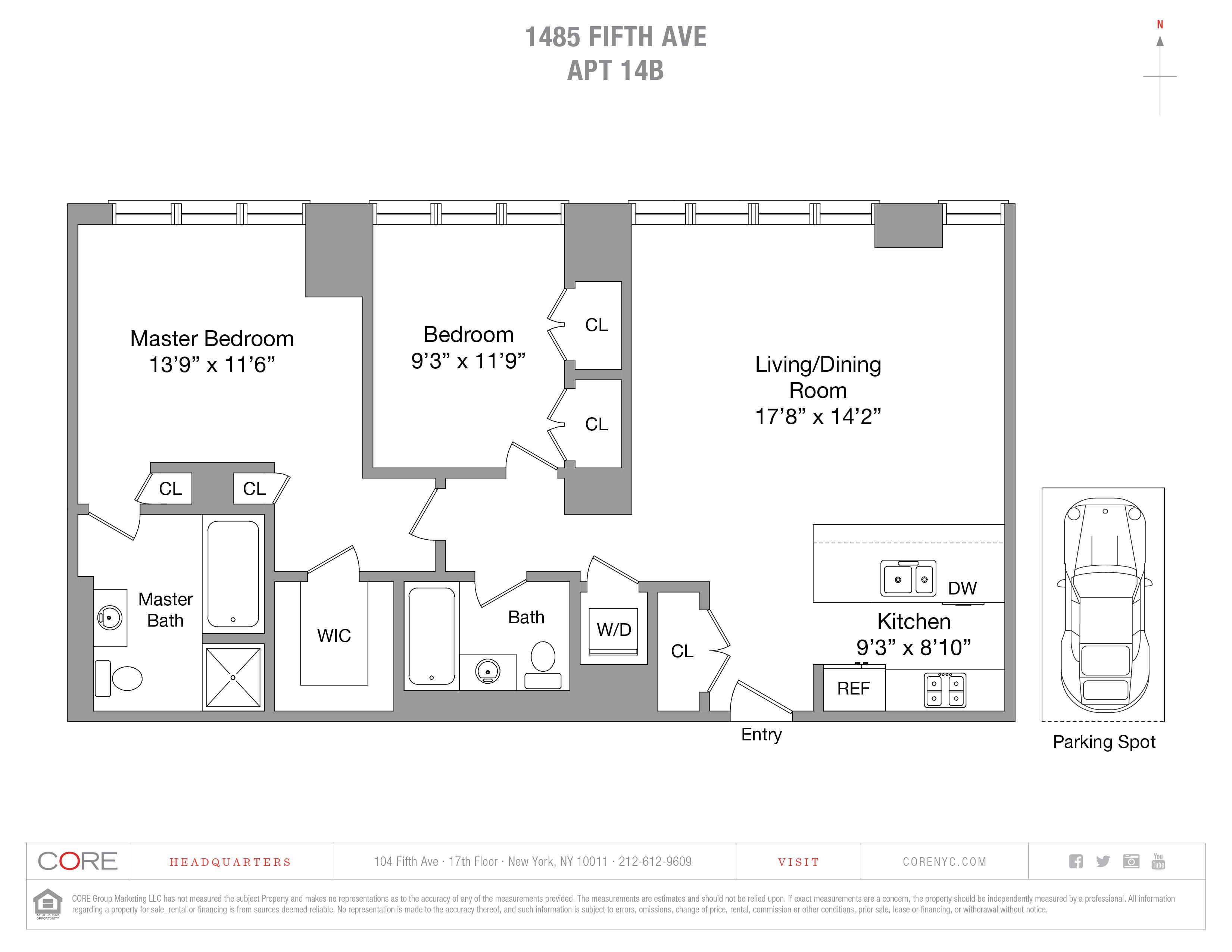 1485 Fifth Ave. 14B, New York, NY 10035