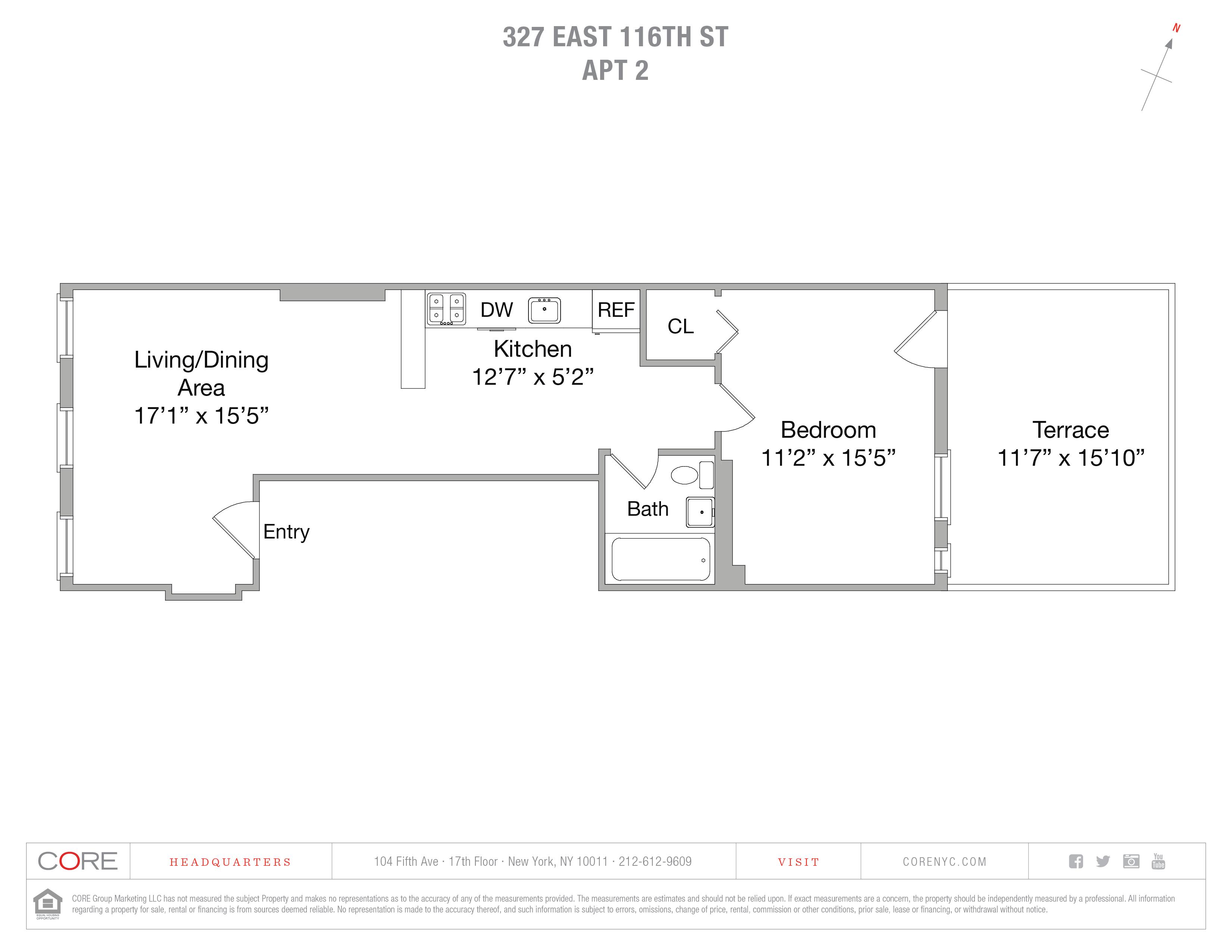 327 East 116th St. 2FL, New York, NY 10029