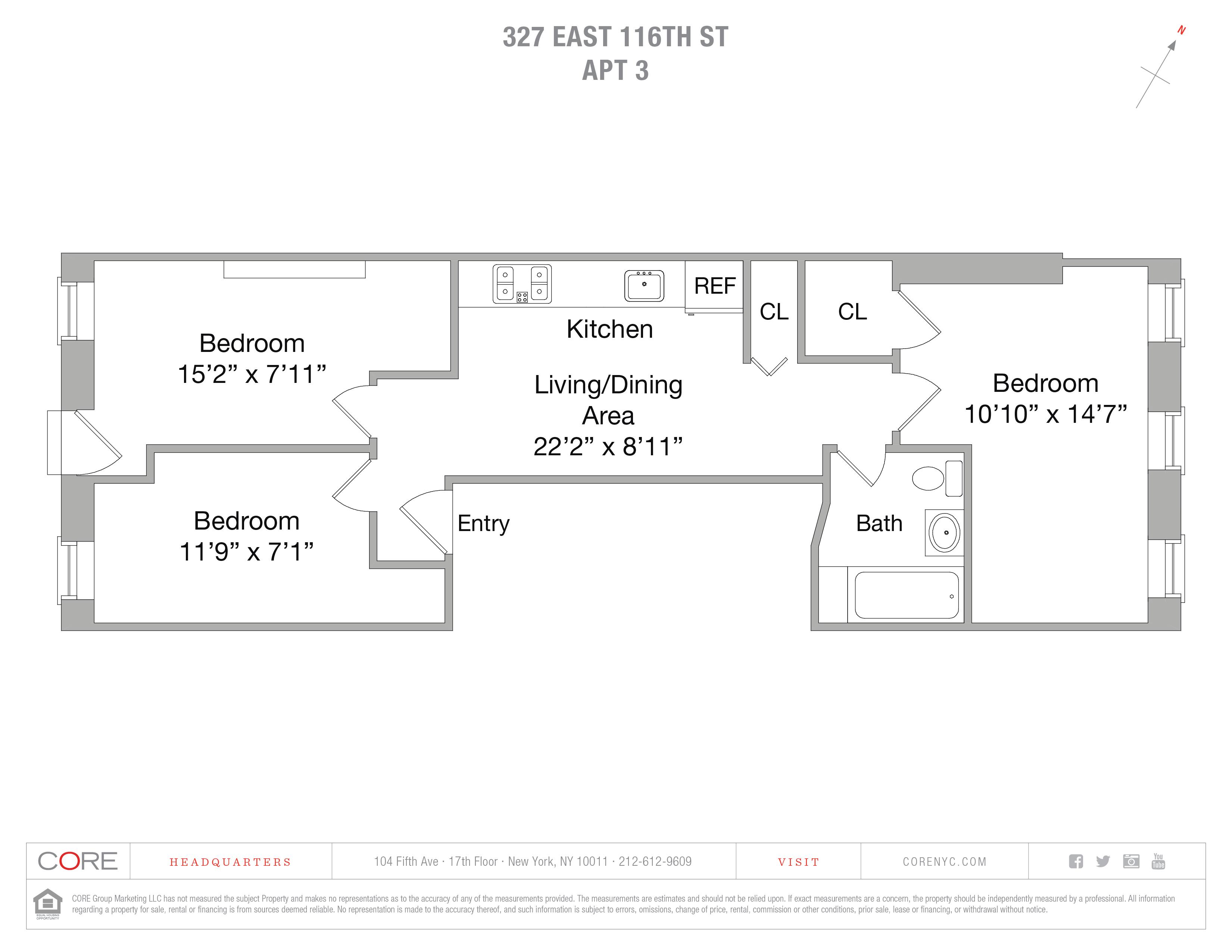 327 East 116th St. 3FL, New York, NY 10029