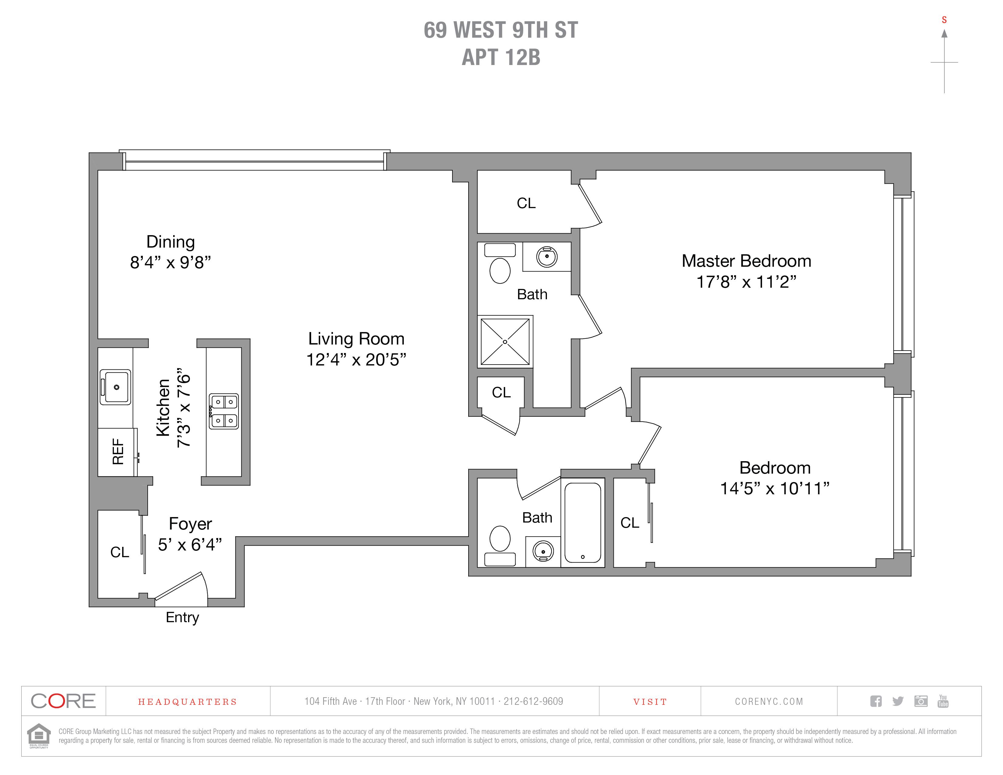 69 West 9th St. 12B, New York, NY 10011