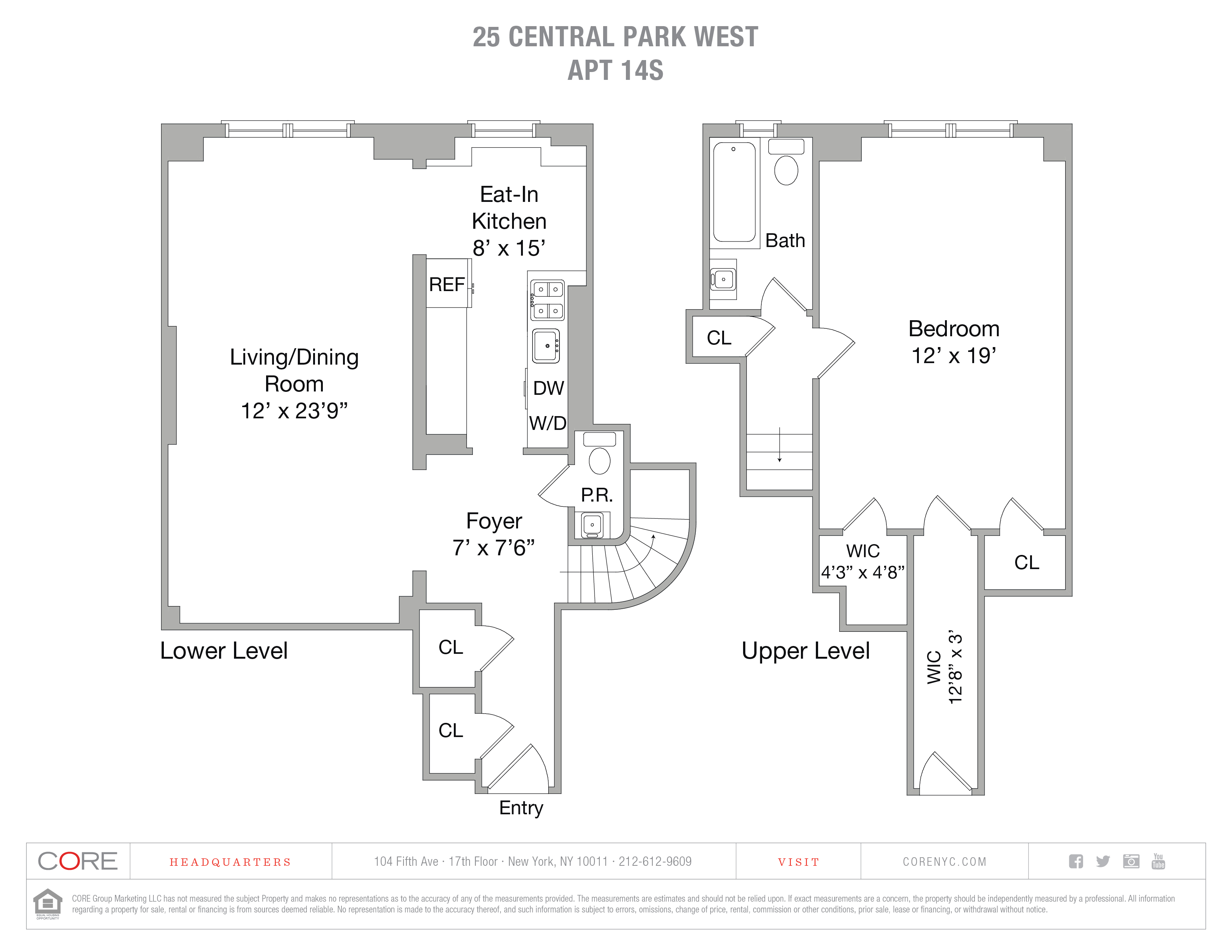 25 Central Park West 14S, New York, NY 10023