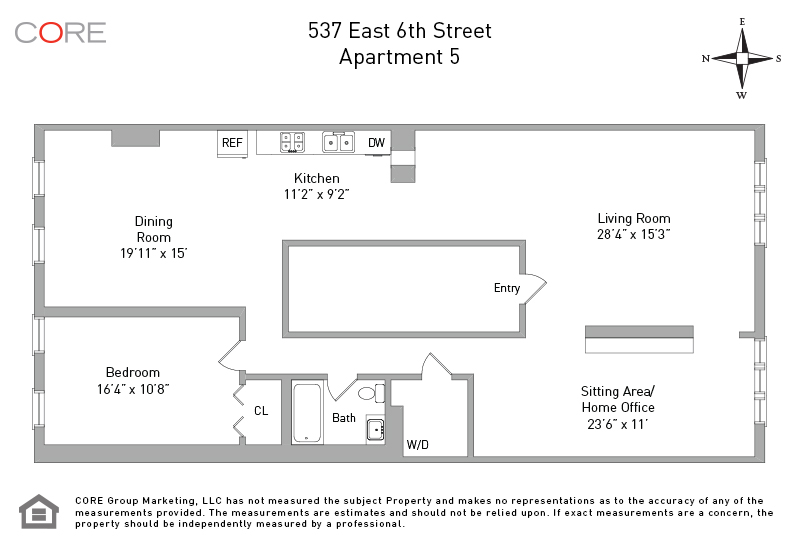 537 East 6th St. 5, New York, NY 10009