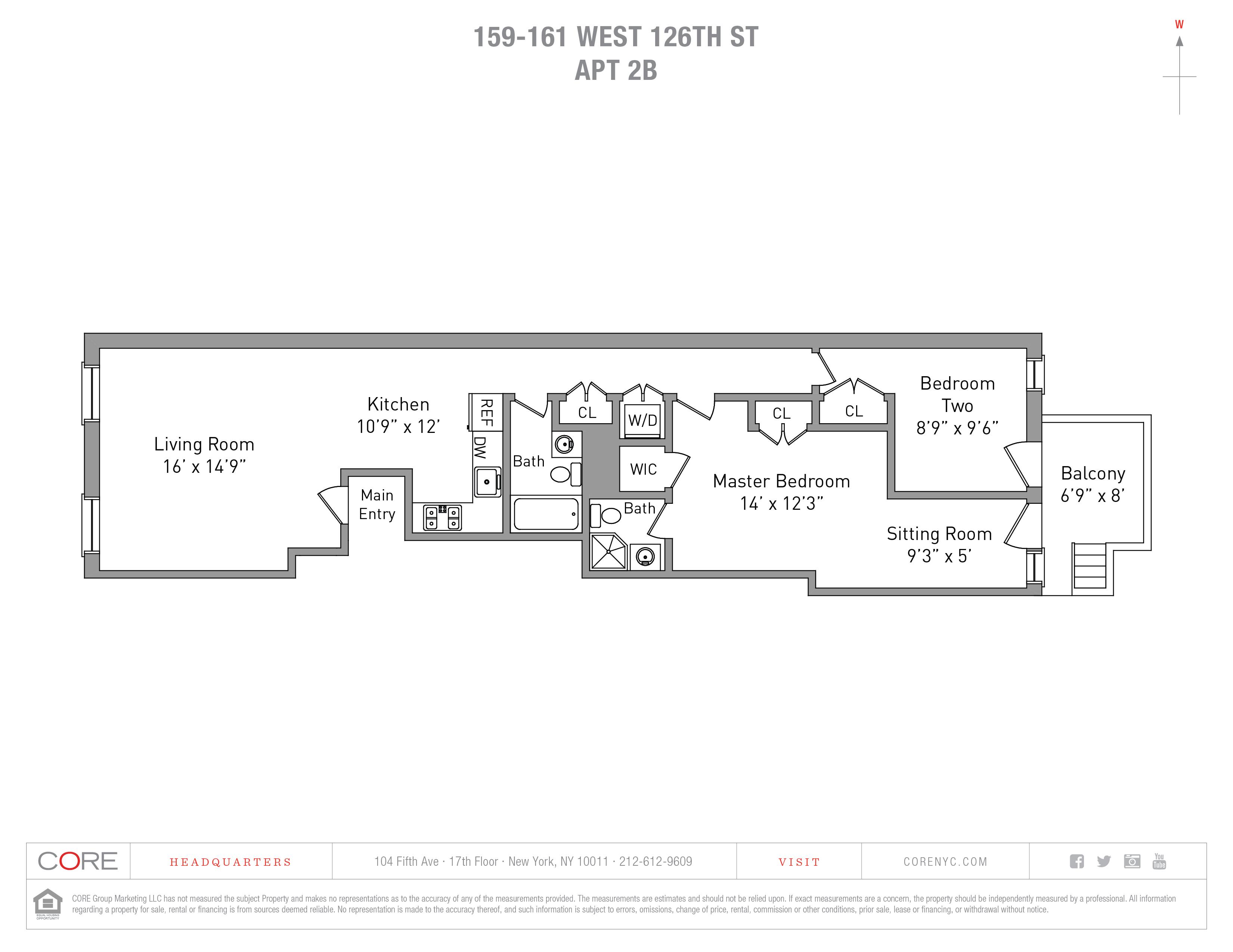 159-161 West 126th St. 2B, New York, NY 10027