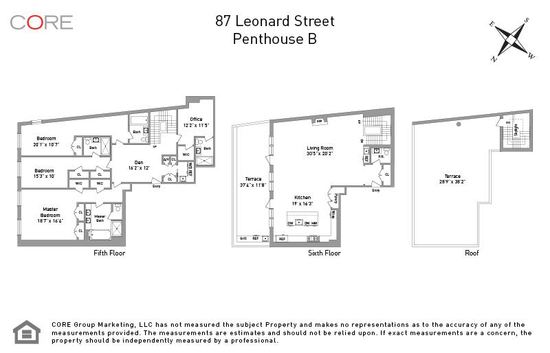87 Leonard St. PENTHOUSEB, New York, NY 10013