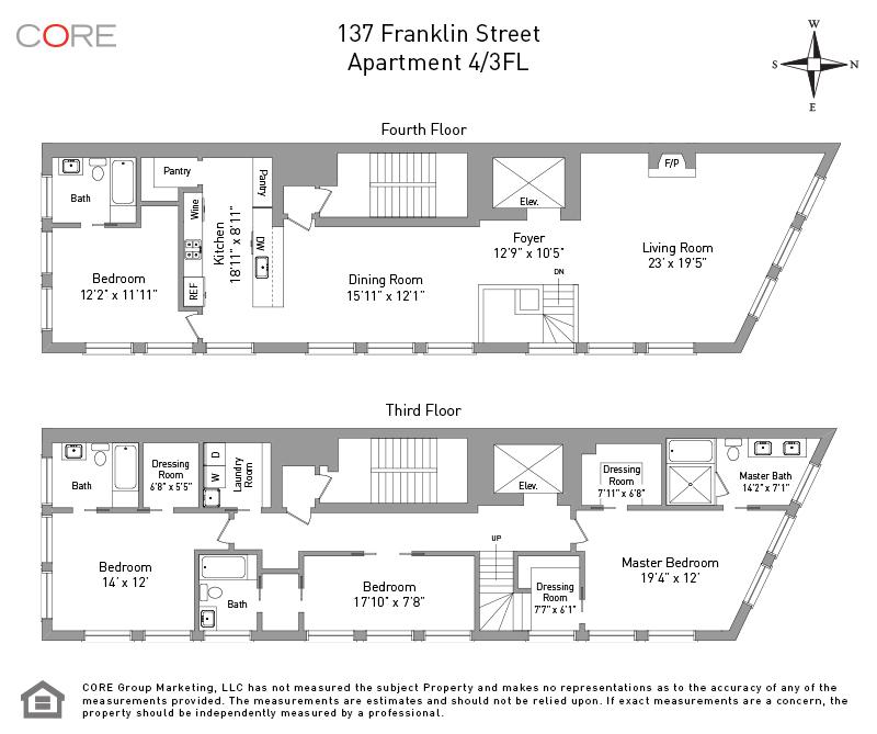 137 Franklin St. 4/3FL, New York, NY 10013