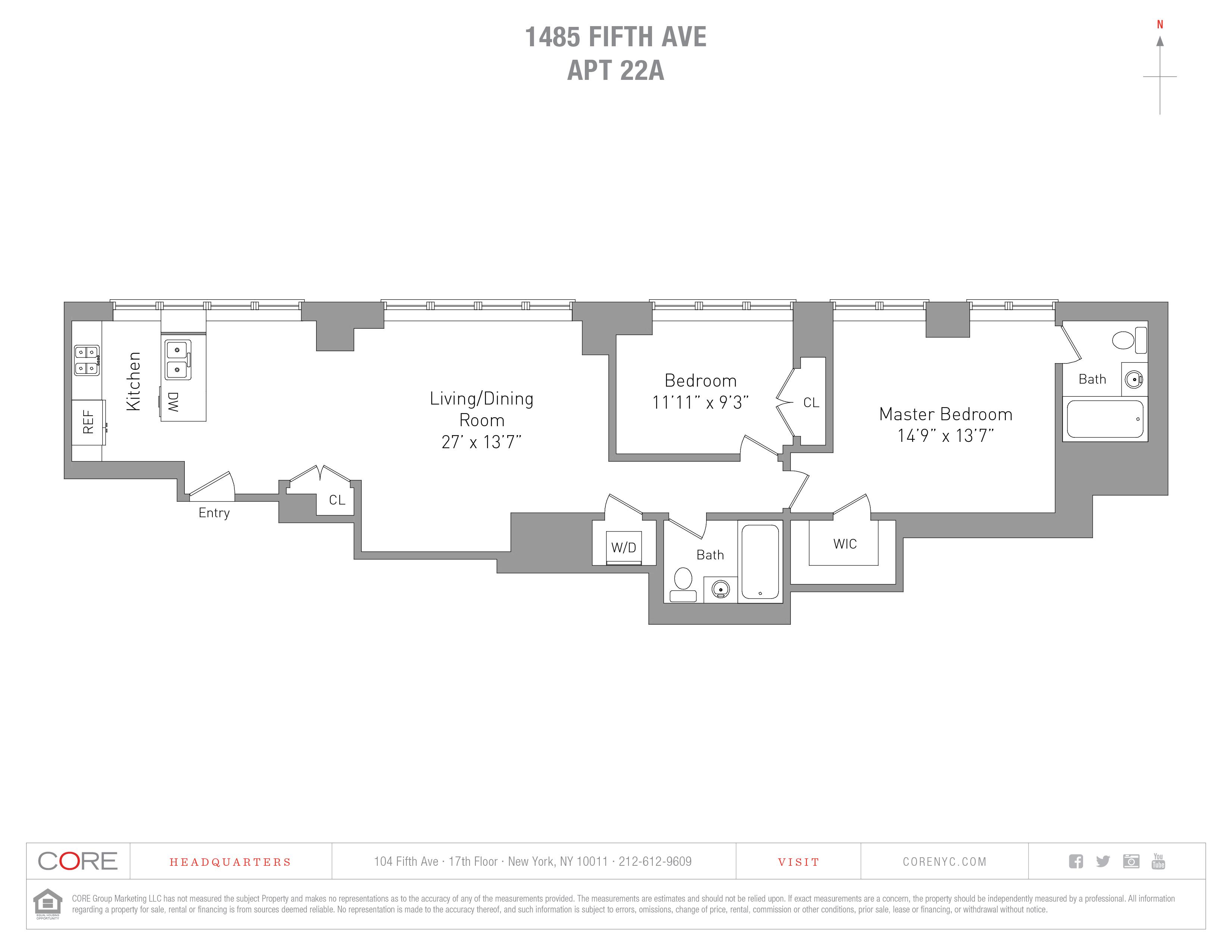 1485 Fifth Ave. 22A, New York, NY 10035