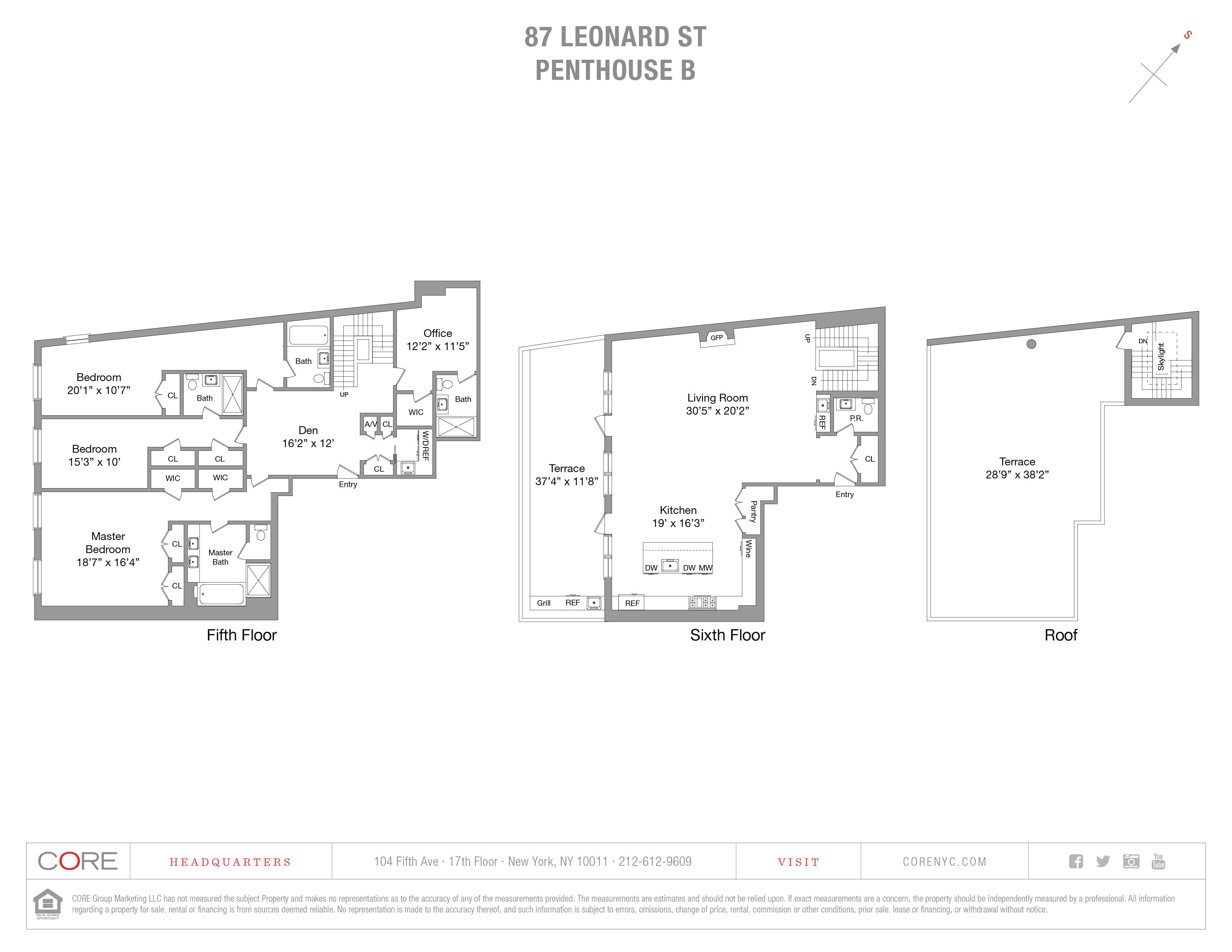 87 Leonard St. PHB, New York, NY 10013