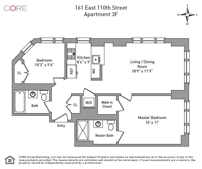 161 East 110th St. 3F, New York, NY 10029