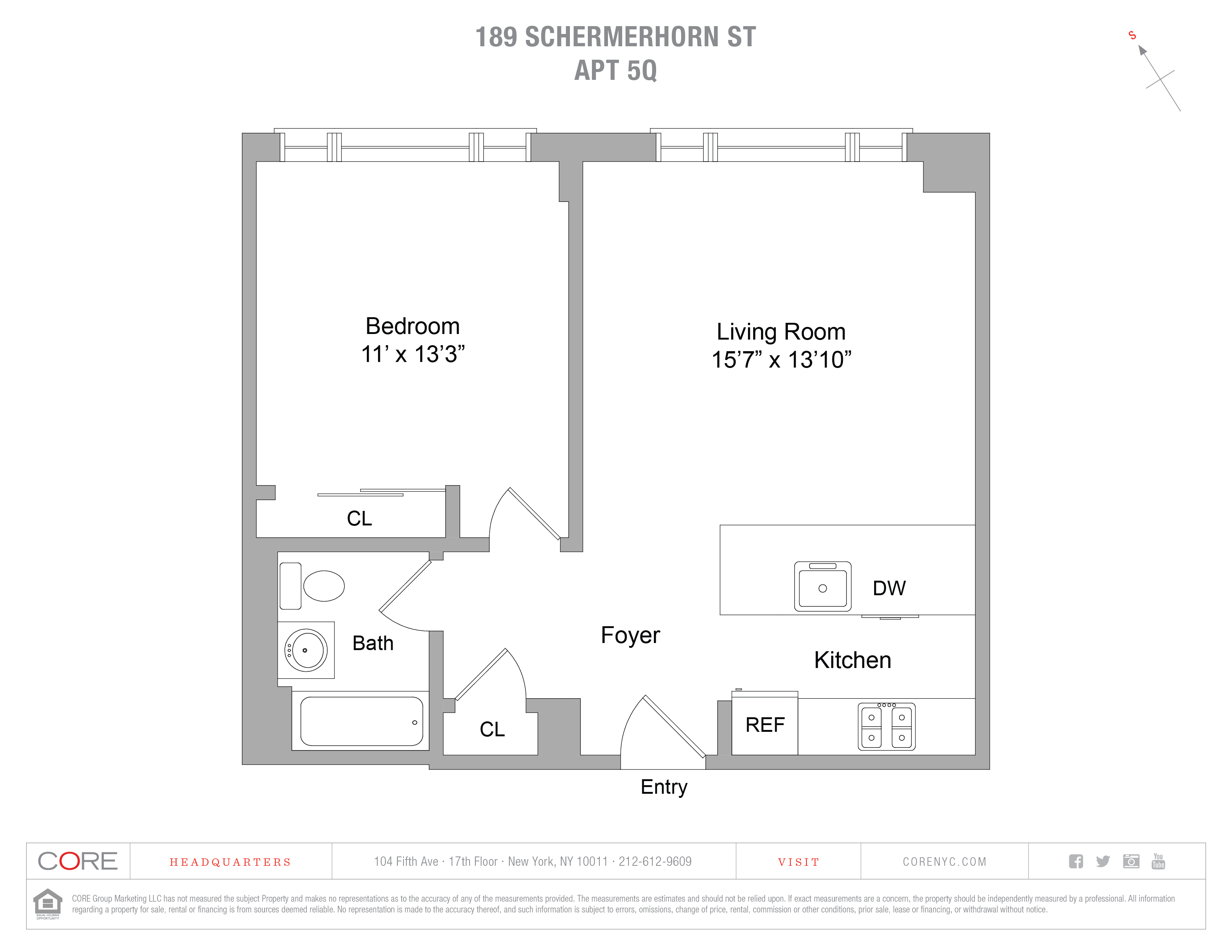 189 Schermerhorn St. 5Q, Brooklyn, NY 11201